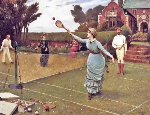 Horace Henry Cauty - The Tennis Match