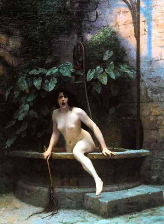 Jean-Léon Gérôme - Truth Coming out of the Well, Armed with a Whip to Punish Mankind 1895