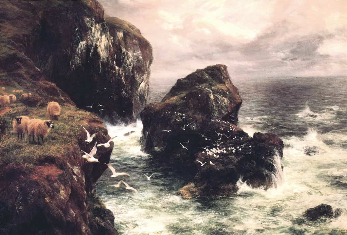 Peter Graham - The Grass Crown Headland of a Rocky Shore