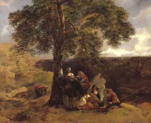 Thomas Gainsborough Landscape with Gipsies c.1753–4