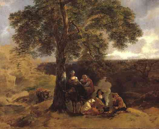 Thomas Gainsborough Landscape with Gipsies c.1753–4