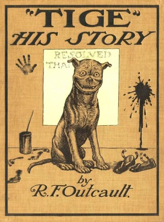 """Tige"" His Story 1905 Richard Felton Outcault clown face"