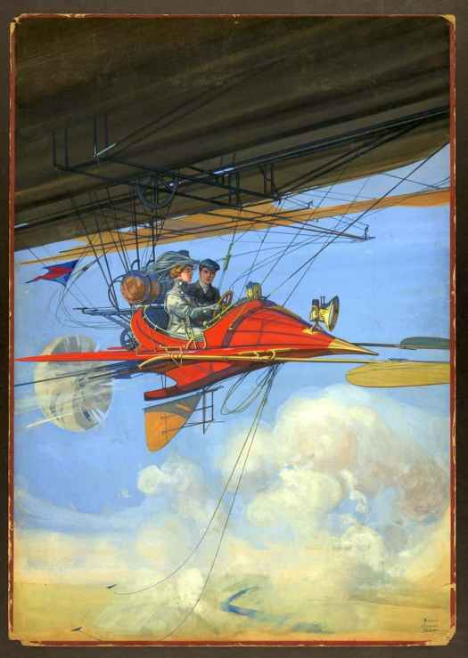 Harry Grant Dart (1869 - 1938) 1900 illustration, one of a series of futuristic and often aviation themed works