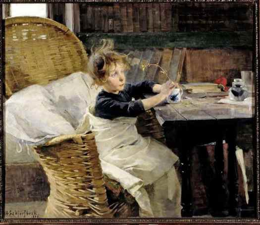 Helen Scherfbeck, (Finland,1862 - 1946) Recovering Child, 1888