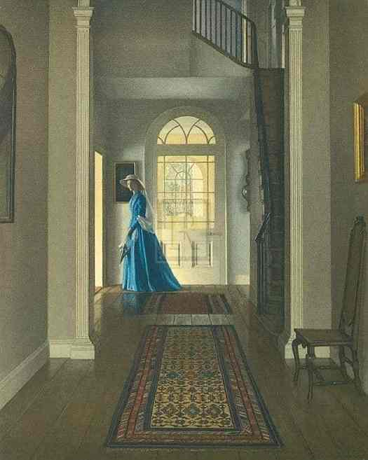 Leonard Campbell Taylor (1874 - 1969). The woman in blue looks almost ghostly.