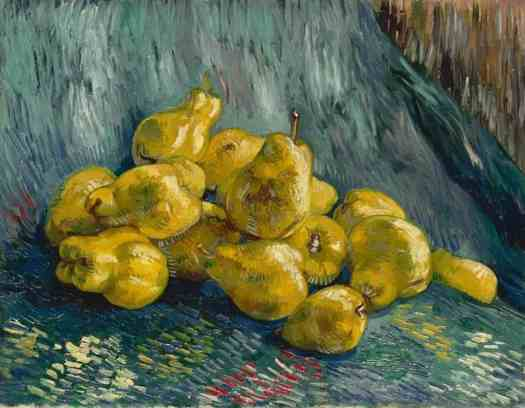 Vincent Van Gogh Stil Life with pears, 1887-1888. Galerie Neue Meister, Dresden