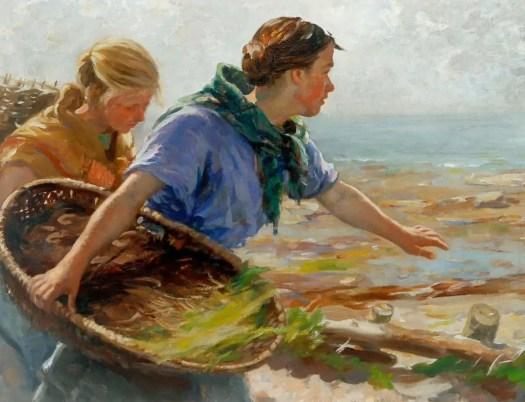 William Marshall Brown - Fishing Girls ca. 1900