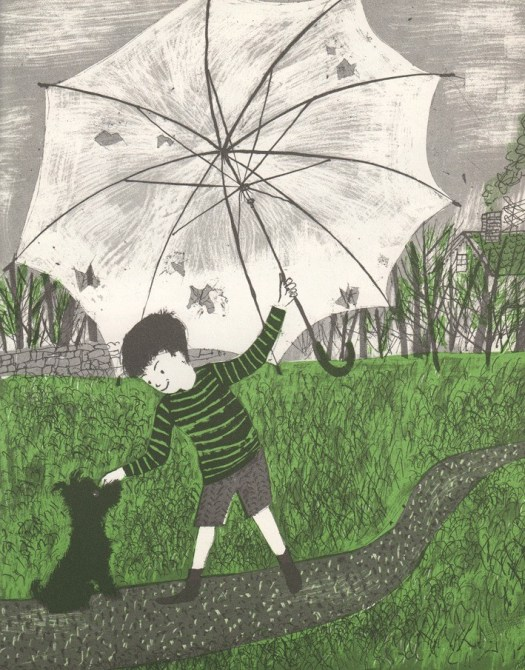"""The April Umbrella"" by Priscilla and Otto Friedrich, illustrated by Roger Duvoisin, Oliver and Boyd 1965"