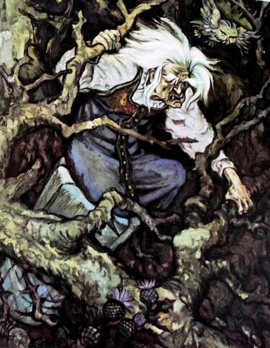 """""""Baba Yaga"""" Russian folk tale Illustrator Nikolay Kochergin"""