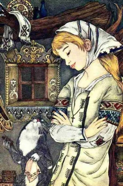 Adrienne Segur, French (1901-1981) 'Baba Yaga's Cat.'