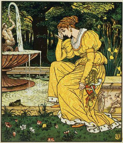 Frog prince and the Maiden,  Walter Crane 1874