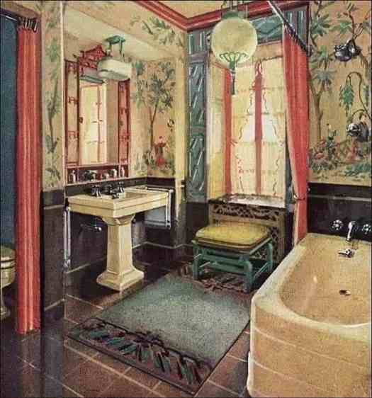 "In 1929, Bathrooms with an Asian Motif became the rage for ""Middle"" & ""Upper Class"" New Yorkers"