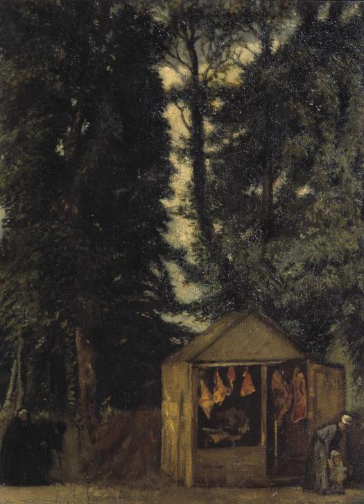 The Butcher's Shop under the Trees 1899 Sir William Rothenstein