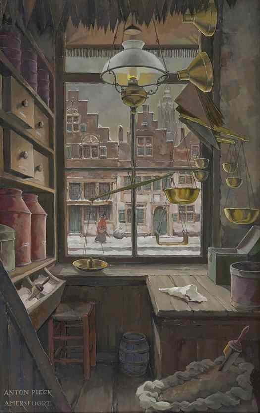 Anton Pieck (Dutch,1895-1987) - Grocery store on 't Havik, Amersfoort