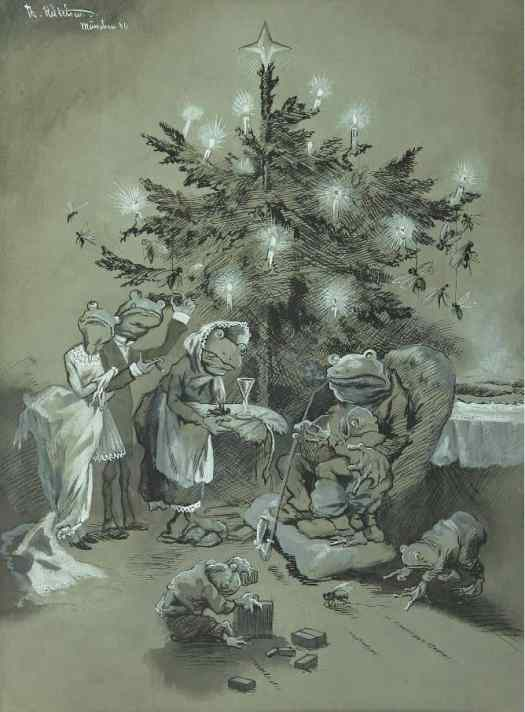 Christmas Party with a wealthy Family of Toads 1886 Pepe A Christmas Story by Theodor Kittelsen
