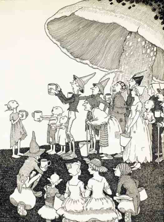 Illustration by Ida Rentoul Outhwaite from CHIMNEY TOWN - 1934