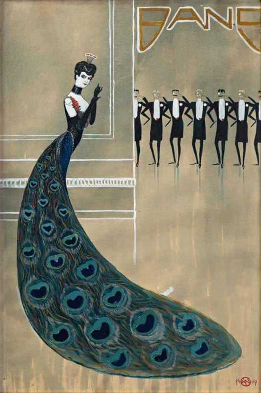 Kay Nillson 1907 peacock dress