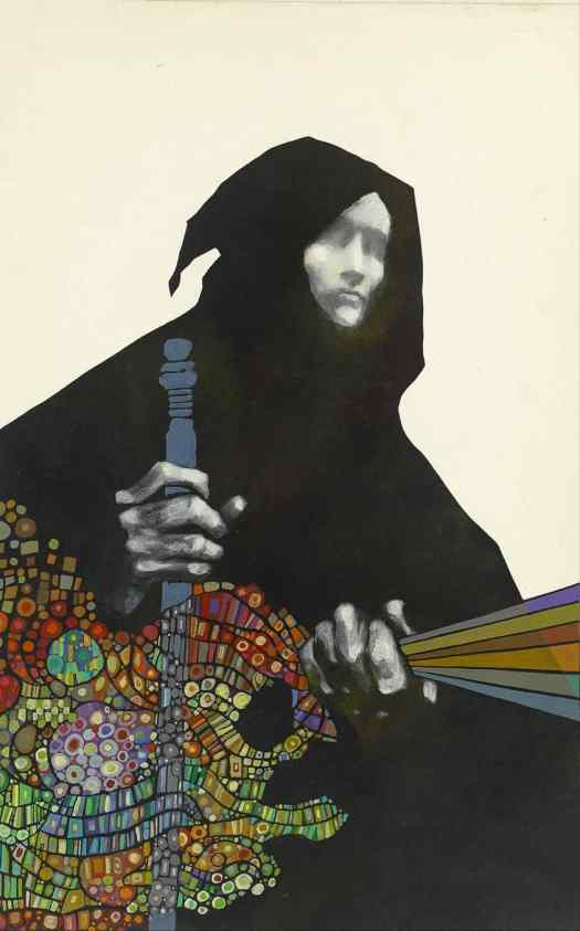 Leo & Diane Dillon (American; L.D. 1933-2012, D.D. b. 1933) 1971 for John Brunner's collection The Traveller In Black
