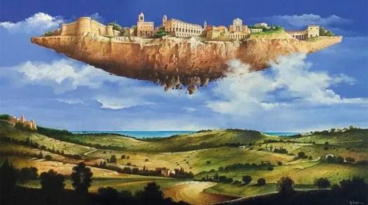One of Mario Logli's 'Flying Islands' 1980