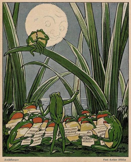 Paul Lothar Müller (1869-1956), 'Froschkonzert' (Frog Concert), Der Guckkasten, 1909
