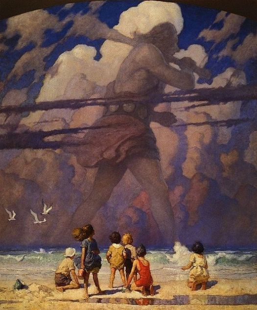 THE GIANT 1923 by N.C. (Newell Convers) Wyeth, Ladies Home Journal 1923