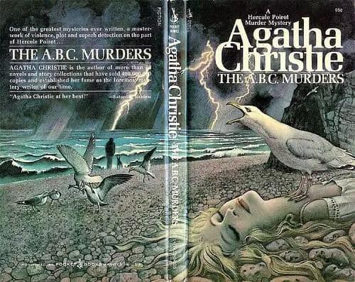 The ABC Murders Agatha Christie art by Tom Adams seagull seaside