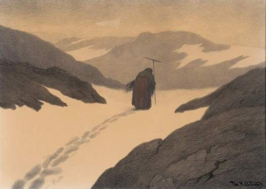 The Pest passing the Mountains 1901 Theodor Kittelsen