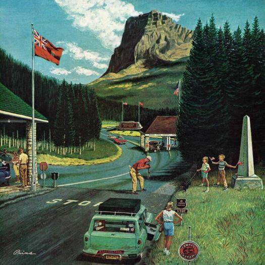 1950s U.S. Canadian Border at Waterton Glacier National Park by Ben Kimberly Prins