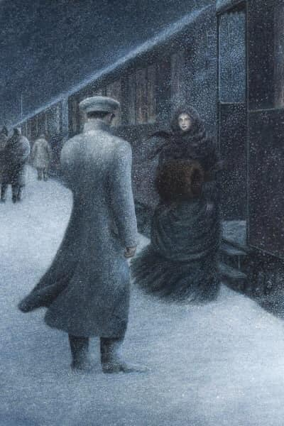 Angela Barrett's Illustration from 'Anna Karenina' novel by the Russian author Leo Tolstoy (1828-1910)