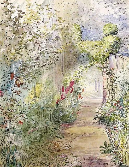 Beatrix Potter, Fawe Park Garden, 1903