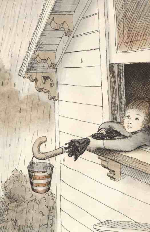 Garth Williams for Do You Know What I'll Do by Charlotte Zolotow 1958 umbrella