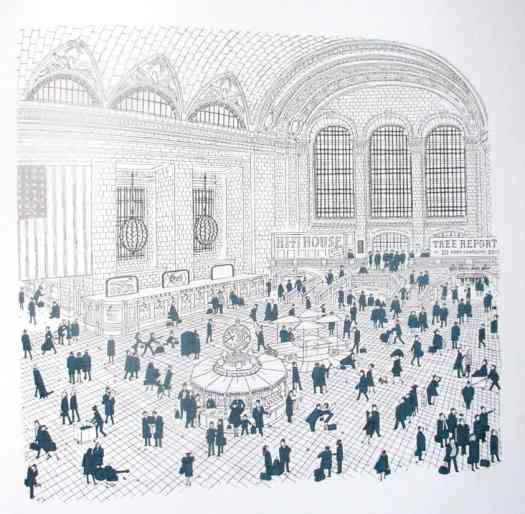 Grand Central Station, New-york... illustrator Robinson, early '60s