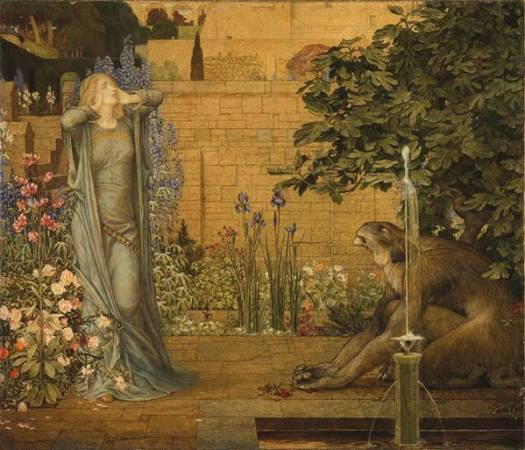 John Dickson Batten (1860-1932) Beauty and the Beast 1904