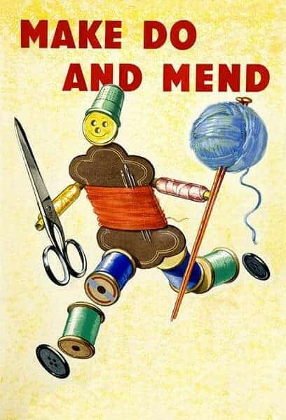World War 2 poster make do and mend gingerbread imagery