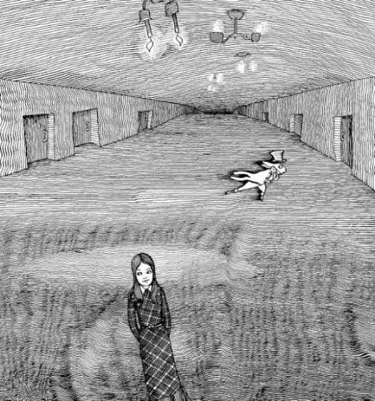 Alice in Wonderland by Gennady Kalinovsky 1974 hallway