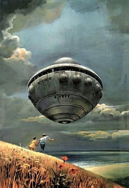 Bruce Pennington (born 1944) 1970 book cover illustration for A.E. van Vogt's Children of Tomorrow