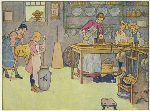 E. Boyd Smith (1860-1943) The Farm Book kitchen