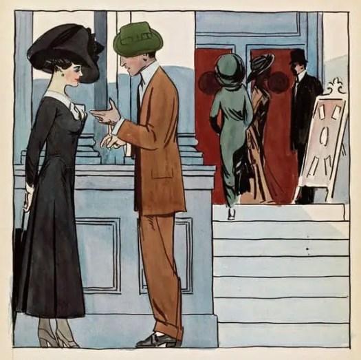 Edward Hopper - A Theater Entrance (c1906-10)