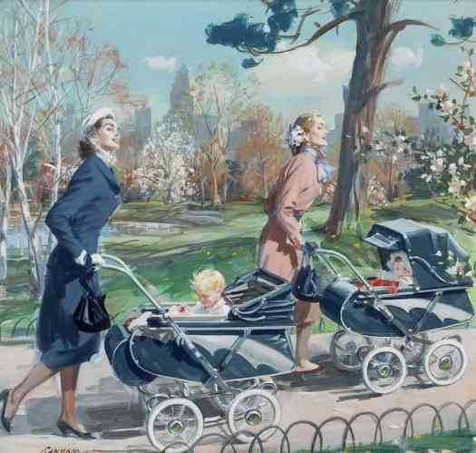 John Gannam Thayer Stroller advertisement, 1951