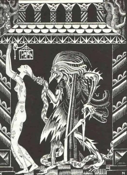 Kay Nielsen, Rapunzel, 1925