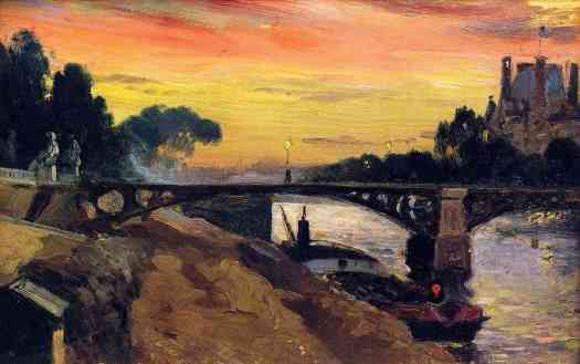 Paris, view of the Seine, Night Mathias Alten, 1899