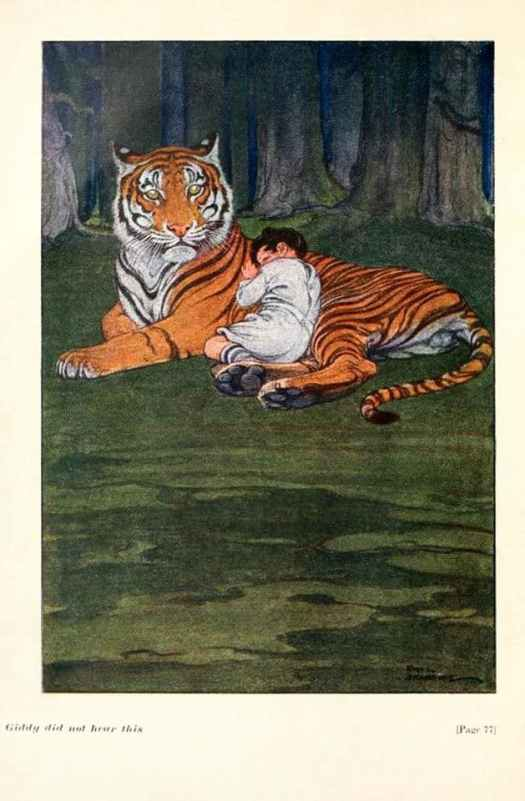 Paul Bransom, The Sandman's Forest, Louis Dodge (Frontispiece), 1918 tiger