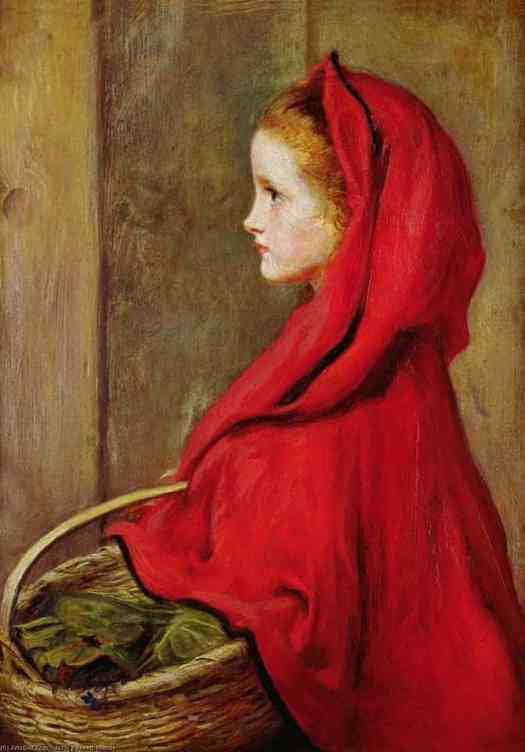 Red Riding Hood, 1864 by John Everett Millais - English