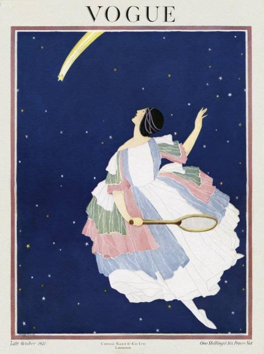 Vogue Magazine Cover - art by George Wolfe Plank - 1921 tennis
