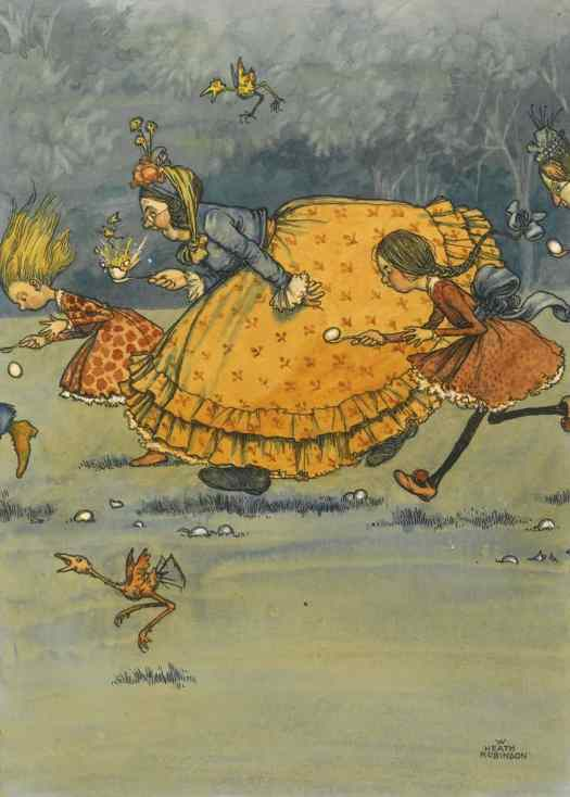 William Heath Robinson (English,1872-1944) - The Egg and Spoon Race
