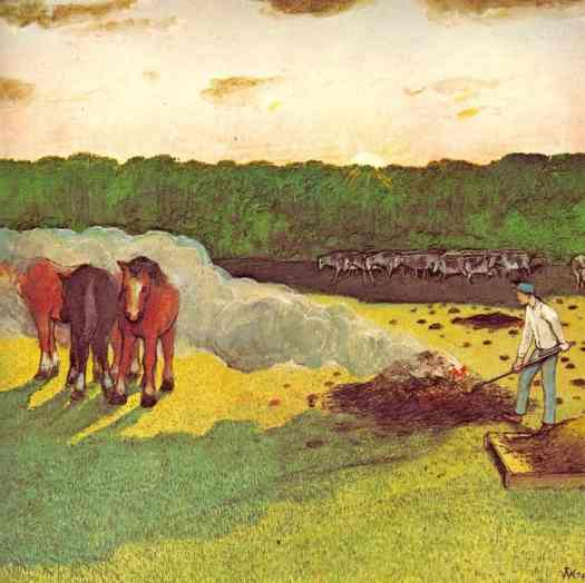 A PRAIRIE BOY'S SUMMER (1975) William Kurelek fire