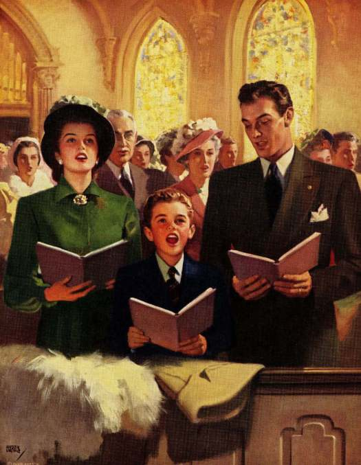 Andrew Loomis (1892–1959) singing church