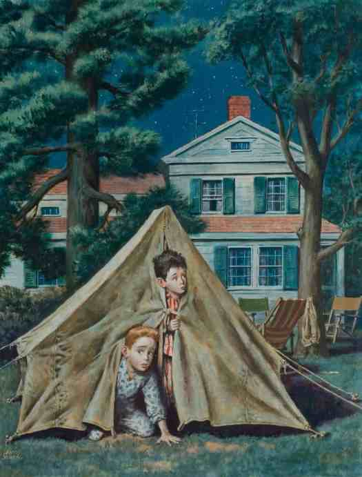 Backyard Campers, Amos Sewell (1901-1983) 1953