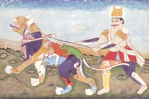 Composite man and tiger, late Mughal, Shah Alam period, late 18th cent