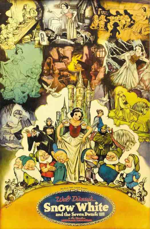Gustaf Tenggren (1896 - 1970) Snow White and the Seven Dwarves poster 1937
